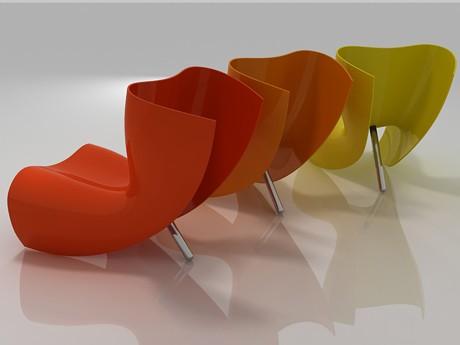 Футуристичен стол от стъклопласт