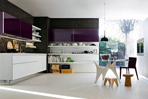 Ultra-modern-luxury-colorful-kitchen-and-dining-area-minimalistic-design