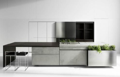 Необичайна кухня от бетон от Мартин Стенингер