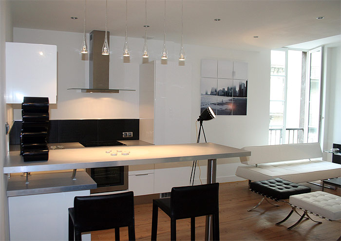 furnishing small apartment. Modern-elegant-small-apartment